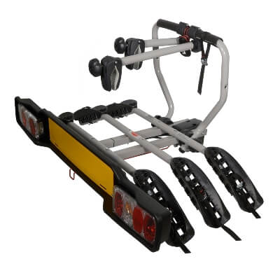 Stand on tow bar mounted cycle carriers