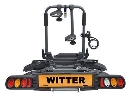 Witter Cycle Carrier Pure Instinct Towball Mounted 2 Bike Cycle Carrier with foldable rails