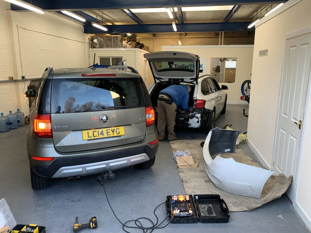 Busy Towbar Fitting Workshop In Coventry