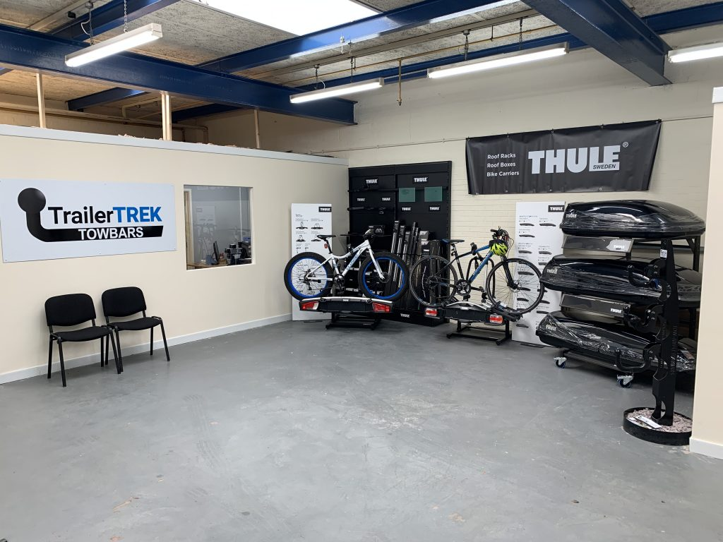 THULE Roof Boxes and cycle carriers as well s WITTER cycles carries at our fitting premises in Coventry